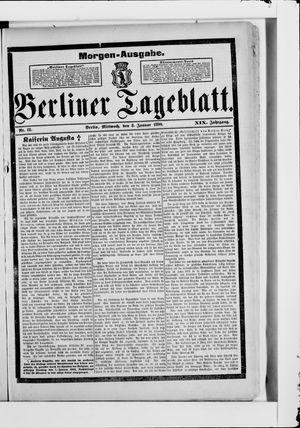 Berliner Tageblatt und Handels-Zeitung vom 08.01.1890