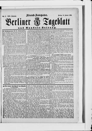 Berliner Tageblatt und Handels-Zeitung vom 10.01.1890