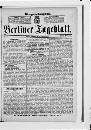 Berliner Tageblatt und Handels-Zeitung vom 12.01.1890