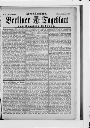 Berliner Tageblatt und Handels-Zeitung vom 13.01.1890