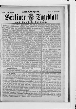 Berliner Tageblatt und Handels-Zeitung vom 14.01.1890