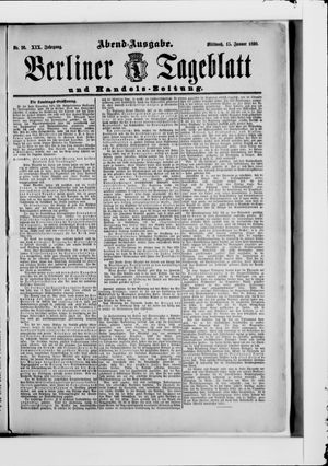 Berliner Tageblatt und Handels-Zeitung vom 15.01.1890