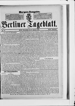 Berliner Tageblatt und Handels-Zeitung vom 17.01.1890
