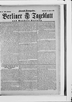 Berliner Tageblatt und Handels-Zeitung vom 18.01.1890