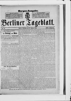 Berliner Tageblatt und Handels-Zeitung vom 19.01.1890