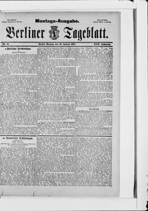 Berliner Tageblatt und Handels-Zeitung vom 20.01.1890