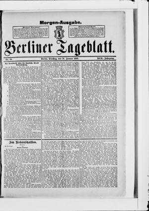 Berliner Tageblatt und Handels-Zeitung vom 21.01.1890