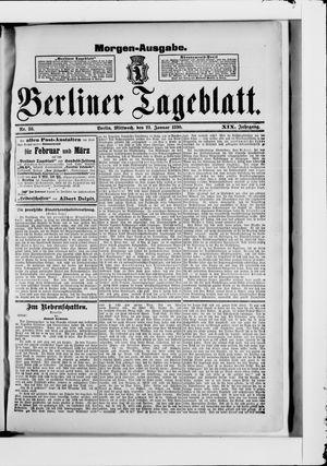 Berliner Tageblatt und Handels-Zeitung vom 22.01.1890