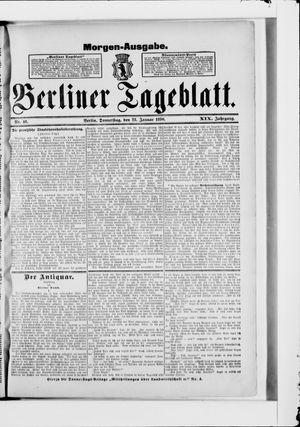 Berliner Tageblatt und Handels-Zeitung vom 23.01.1890