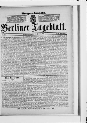 Berliner Tageblatt und Handels-Zeitung vom 24.01.1890