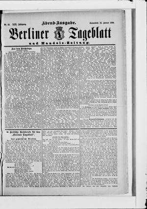 Berliner Tageblatt und Handels-Zeitung vom 25.01.1890