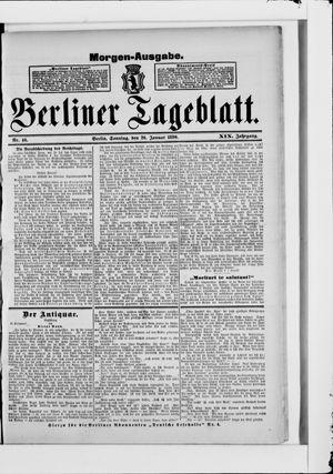 Berliner Tageblatt und Handels-Zeitung vom 26.01.1890