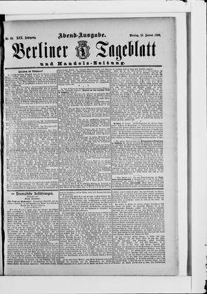 Berliner Tageblatt und Handels-Zeitung vom 27.01.1890