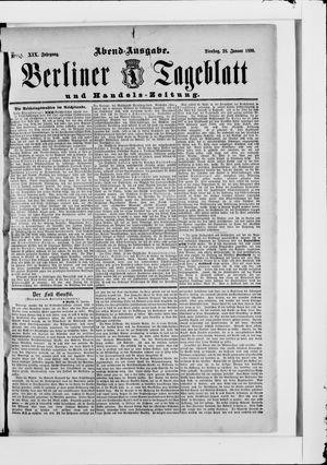 Berliner Tageblatt und Handels-Zeitung vom 28.01.1890
