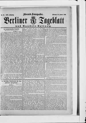 Berliner Tageblatt und Handels-Zeitung vom 29.01.1890
