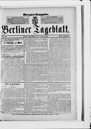 Berliner Tageblatt und Handels-Zeitung vom 30.01.1890