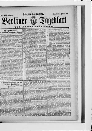 Berliner Tageblatt und Handels-Zeitung vom 01.02.1890