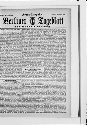 Berliner Tageblatt und Handels-Zeitung vom 03.02.1890