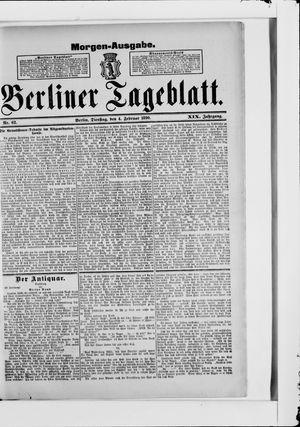 Berliner Tageblatt und Handels-Zeitung vom 04.02.1890