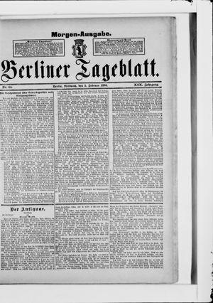 Berliner Tageblatt und Handels-Zeitung vom 05.02.1890
