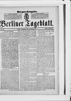 Berliner Tageblatt und Handels-Zeitung vom 06.02.1890