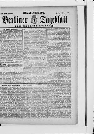 Berliner Tageblatt und Handels-Zeitung vom 07.02.1890