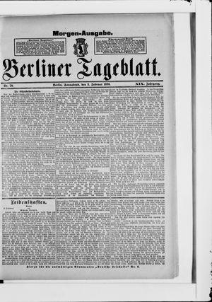 Berliner Tageblatt und Handels-Zeitung vom 08.02.1890