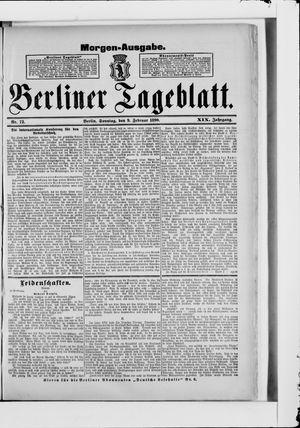 Berliner Tageblatt und Handels-Zeitung vom 09.02.1890