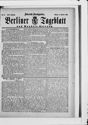 Berliner Tageblatt und Handels-Zeitung vom 10.02.1890