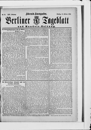 Berliner Tageblatt und Handels-Zeitung vom 11.02.1890