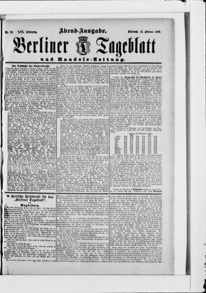 Berliner Tageblatt und Handels-Zeitung vom 12.02.1890