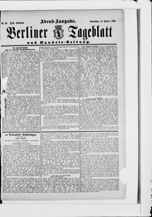 Berliner Tageblatt und Handels-Zeitung vom 13.02.1890