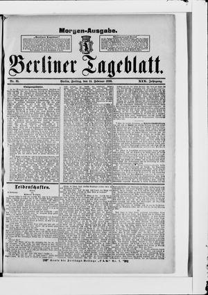 Berliner Tageblatt und Handels-Zeitung vom 14.02.1890