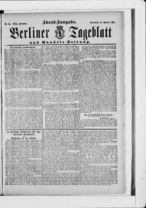 Berliner Tageblatt und Handels-Zeitung vom 15.02.1890