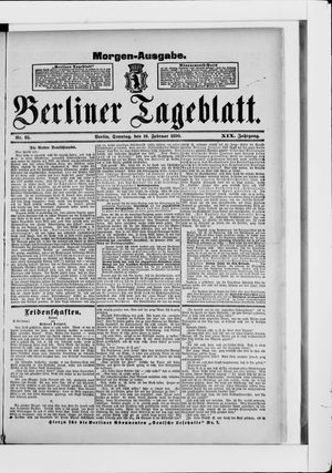 Berliner Tageblatt und Handels-Zeitung vom 16.02.1890