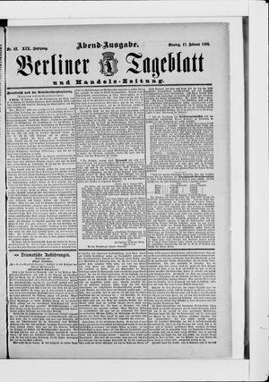 Berliner Tageblatt und Handels-Zeitung vom 17.02.1890