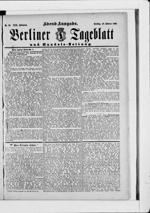 Berliner Tageblatt und Handels-Zeitung vom 18.02.1890