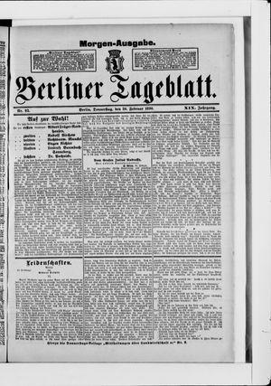 Berliner Tageblatt und Handels-Zeitung vom 20.02.1890