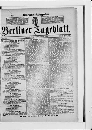 Berliner Tageblatt und Handels-Zeitung vom 21.02.1890