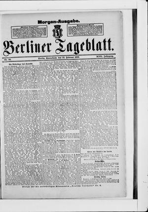 Berliner Tageblatt und Handels-Zeitung vom 22.02.1890