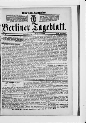 Berliner Tageblatt und Handels-Zeitung vom 23.02.1890