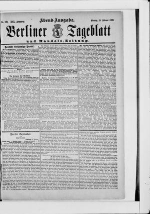 Berliner Tageblatt und Handels-Zeitung vom 24.02.1890