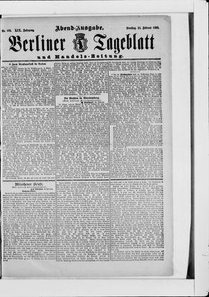 Berliner Tageblatt und Handels-Zeitung vom 25.02.1890