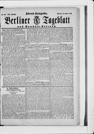 Berliner Tageblatt und Handels-Zeitung vom 26.02.1890