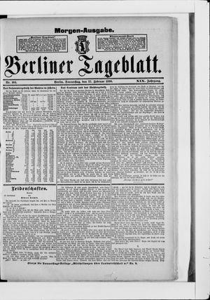 Berliner Tageblatt und Handels-Zeitung vom 27.02.1890