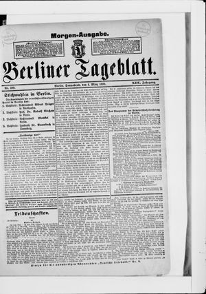 Berliner Tageblatt und Handels-Zeitung vom 01.03.1890