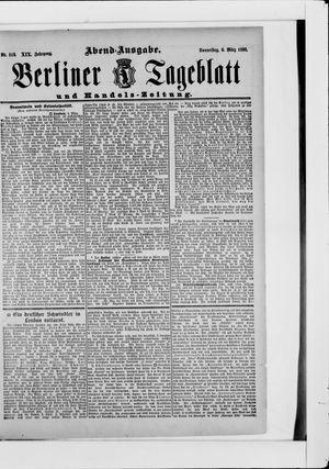 Berliner Tageblatt und Handels-Zeitung vom 06.03.1890