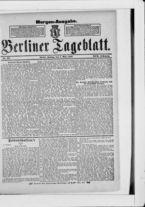 Berliner Tageblatt und Handels-Zeitung vom 07.03.1890