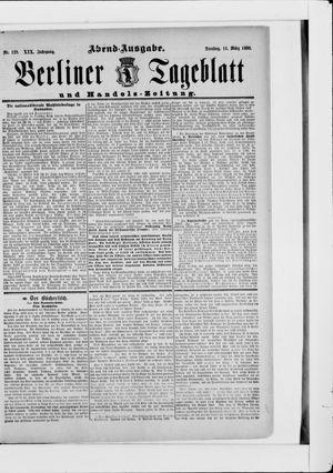 Berliner Tageblatt und Handels-Zeitung vom 11.03.1890