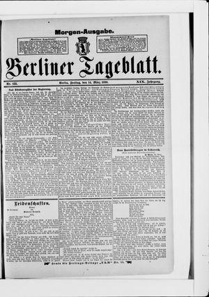 Berliner Tageblatt und Handels-Zeitung vom 14.03.1890